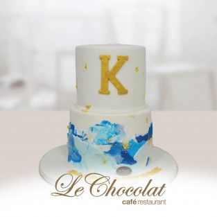 Artsy Personalized Letter Cake