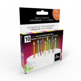 Neon printed colour flame candles